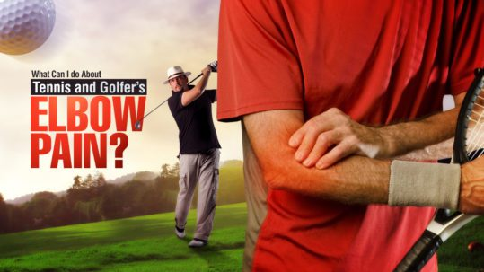 Man with Arm pain playing golf