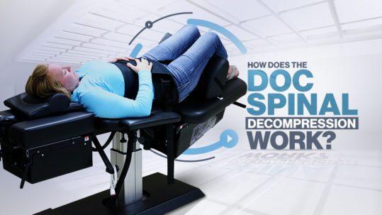 woman doc decompression spinal decompression